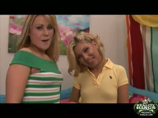 2 Horny Blonde Students Aubrey And Sindee Fucking