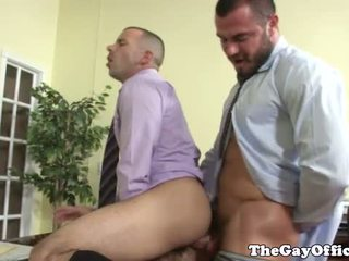 Gay office jock getting ass fucked