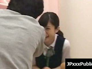 Sexy japanese teens fuck in public places 11