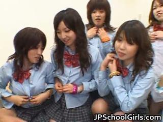 Á châu schoolgirls having hậu môn giới tính khiêu dâm
