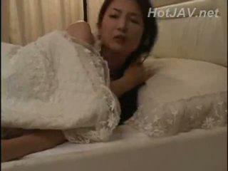japonés, madre, milf