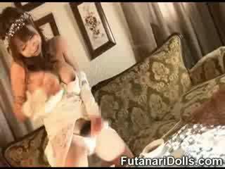 Futanari līgava cumming!