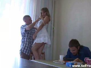 Ajo takes larg e tij blue shirt