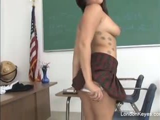 tits, brunette, college