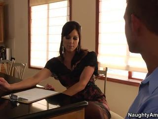 Lucky Guy Gets Interviewed By Slutty Milf Kendra Lust