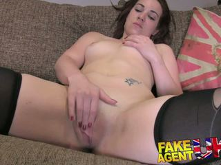 FakeAgentUK Office couch sex session