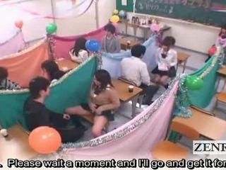 Subtitled japonsko schoolgirls trieda masturbation cafe