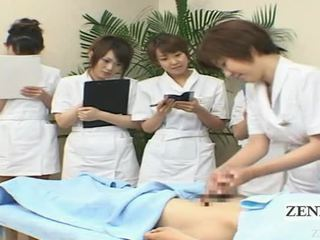 Subtitled rapariga vestida gajo nu japonesa punhetas spa grupo demonstration