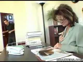 büro, mütter und jungen