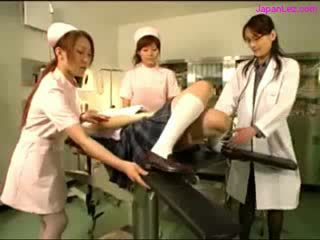 Doll Getting Her puss Examinted With Speculum Licked By doctor Melons Rubbed By 2 Nurses In The Operation Room