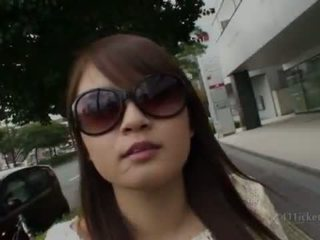 brunette, japanese, outdoor sex