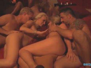スインガー パーティー 乱交パーティー とともに 6 couples