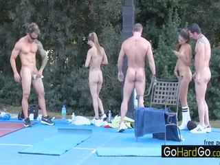 group sex, fresh big boobs, full doggystyle see