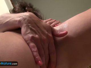 Europemature Awesome Granny Rose Solo Masturbation: Porn 09