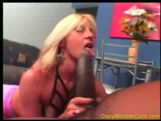 Racy Blonde receives Huge boner