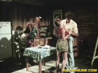 Bucatarie sex in patru retro xxx film