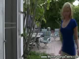 MILF cares about chick sexual educatio...