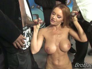 Janet mason gets bukkaked līdz ten blacks