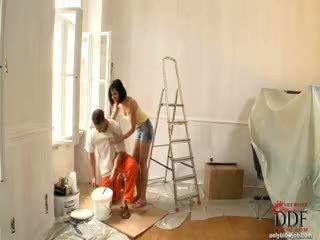 Abbie cat sucks la painter