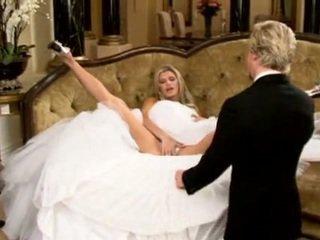 bride, beautiful, sofa