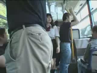 japonski, šolarka, avtobus