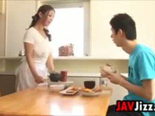 Schwer japanisch schwanz spaß im die küche