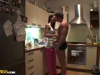 Sex And Kissing In The Kitchen