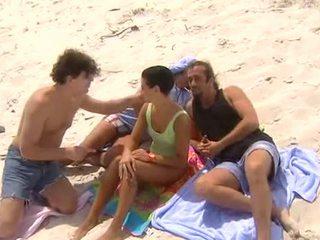 Simone Horvath on the gangbang beach