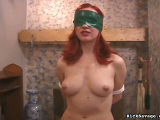 Vergs gagged un vāvere whipped