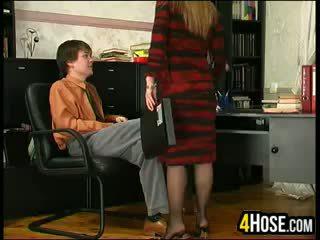 Rusa madre follada por hijo en ley
