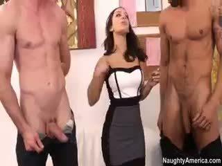 brunete, grupu sekss, big boobs