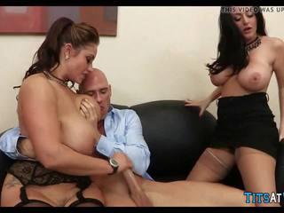 Velký sýkorka trojice na práce, volný na práce porno 16