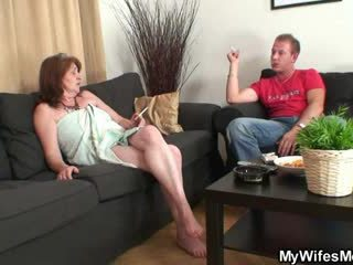 Mother in law fucks him but wife finds out them
