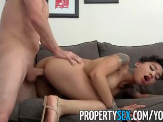 Propertysex - hot cilik tenant late on rent fucks her landlord