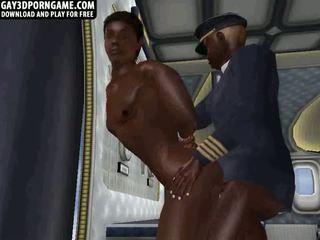 Par an airplane šis two melnādainas guys jāšanās