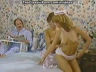 Karen mùa hè, nina hartley trong khiêu dâm cổ điển clip với một sừng người giúp việc