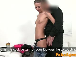 FakeAgent Hot Skinny babe loves fucking and giving blowjobs