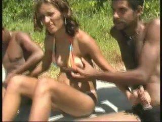 brasiliansk, svart och ebony, gang