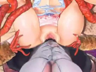 hentai, spel, monster