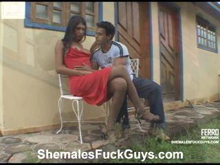 Heet shemales bonk guys video- starring poax, bruna, eduardo