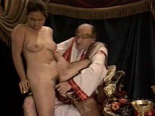 Ázsiai fiatal lány szereplőválogatás készült által idősebb & kövér nagypapa