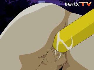 Taut hentai anus has stretched