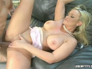 Bustylicious Abbey Brooks spreads her twat wide and enjoys the cock in her