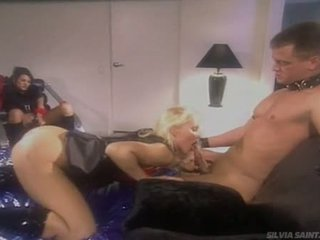 Delicious Wench Sylvia Saint Feeds Her Moist Cock In Her Lusty Sweet Mouth