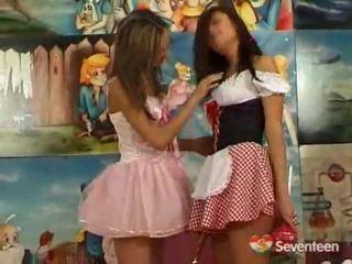 Lesbiyan teenagers having funtime