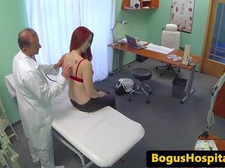 Ginger Euro Amateur Cocksucking Doctor, Porn f3