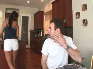 Sexy morena mexicana muñeca con un peluda muff takes un duro anal joder
