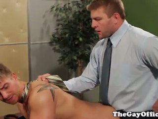 Hot office ass fucking boss Colby Jansen