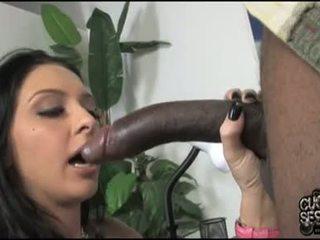 Stephanie kane miúda ter adorável darksome meat em boca