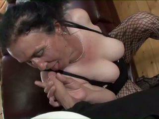 Porner Premium: Busty brunette granny gets nasty pussy pounding